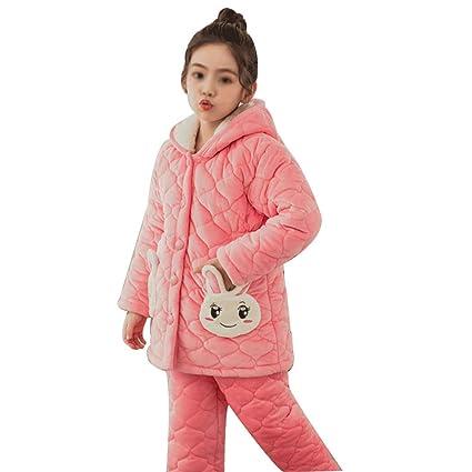 HONGNA Pijamas De Otoño E Invierno para Niños Además De Pijamas De Terciopelo Pijamas De Franela