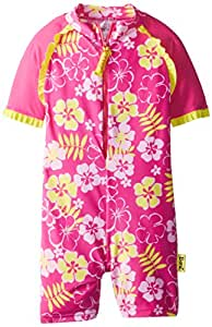 Baby Banz Girls 2-6X One Piece Swimsuit, Sunblossom, 8 Years