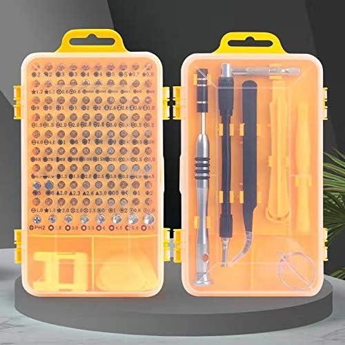 110-IN-1 Professionalの磁気ドライバーセット、多機能ドライバーツールを使用して、パッケージのRepirデジタル携帯電話ウォッチメガネ 機能ハードウェア・ツールキット (色 : Yellow)