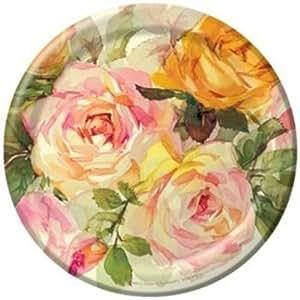 Lattice Rose 7-inch Paper Plates 8 Per Pack