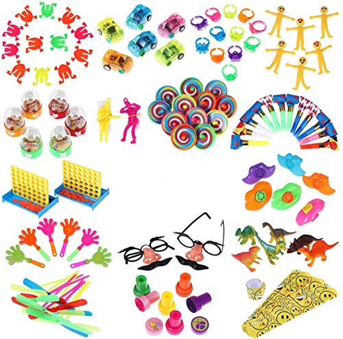 iBaseToy 120Pcs Carnival Prizes for Kids Classroom, Party Favor Toy Assortment, Prizes for Kids Party Games, Birthday Patry Favors for Boys Grils, Bulk Pinata Fillers Treasure Box Goodie Bag