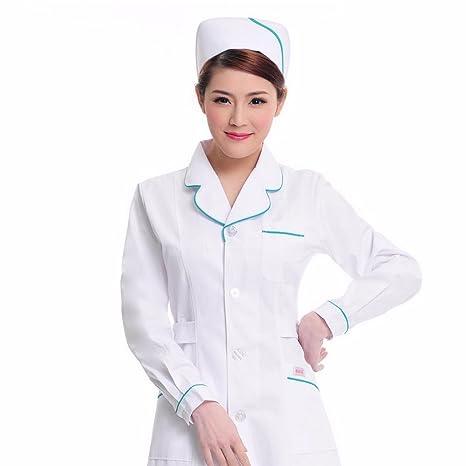 Xuanku Las Enfermeras Llevar Ropa De Manga Larga Ropa De Laboratorio, Farmacia, Salón De Belleza Artículos, Batas Blancas: Amazon.es: Ropa y accesorios