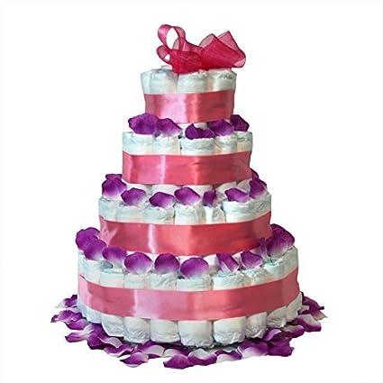 Tarta de pañales niña Dodot - Maxi rosa - Mil Cestas: Amazon.es: Bebé