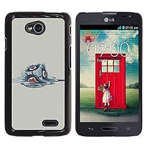 Be Good Phone Accessory // Dura Cáscara cubierta Protectora Caso Carcasa Funda de Protección para LG Optimus L70 / LS620 / D325 / MS323 // Funny Portal Cube
