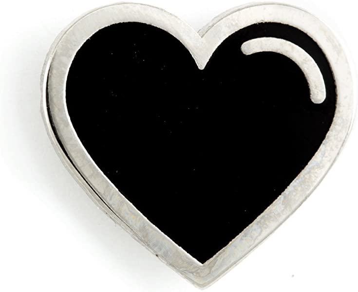 297f9fb0916 Amazon.com  These Are Things Black Heart Enamel Pin  Jewelry