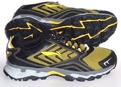 Li-Ning Trail Zapatillas de correr senderismo negras y amarillas Neutral Trabuco - Nuevo,- -Nr.44 1/3 (UK9,5) 28,0cm: Amazon.es: Zapatos y complementos