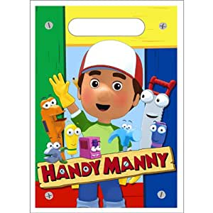 Handy manny loot bags 8ct toys games for Handy manny decorations