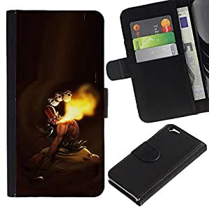 KLONGSHOP // Tirón de la caja Cartera de cuero con ranuras para tarjetas - MK indio de combate - Apple Iphone 6 //