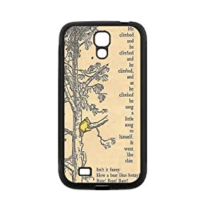 LeonardCustom Cute Cartoon Winnie the Pooh Durable Hard Rubber Fitted Cover Case for Samsung Galaxy S4 -LCS4U182