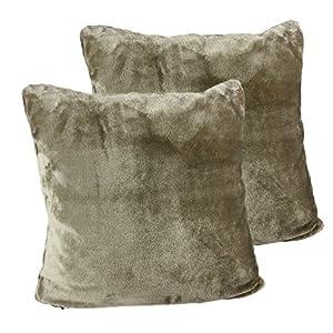 Amago 40132-71-A2 Taie d'oreiller, Sensation Cachemire, Taupe, 50 x 50 cm, Lot de 2
