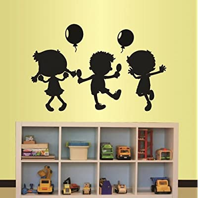 Wall Vinyl Decal Home Decor Art Sticker Cute Little Kids Dancing Playing Nursery Bedroom Play Room Removable Stylish Mural Unique Design: Home & Kitchen