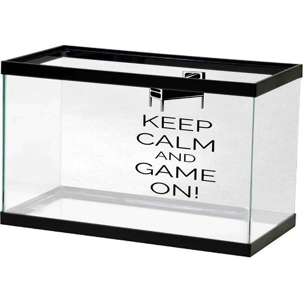 Amazon Com Bybyhome Wallpaper Fish Tank Keep Calm Pinball