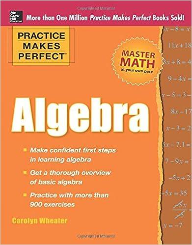 Practice Makes Perfect Algebra (Practice Makes Perfect