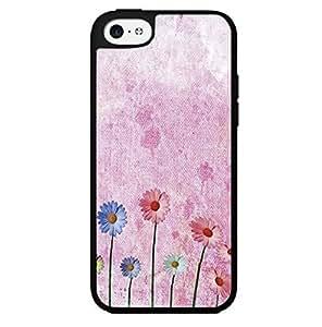 Painted Pink Sun Flowers on Canvas Background Hard Snap on Phone Case (iPhone 5c) WANGJING JINDA