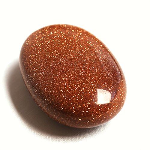 Red Goldstone Palm Natural Stone Crystal Labradorite Healing Gemstone ()