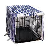 Medium DogHouse Blue Stripe Canvas Dog Crate Cover