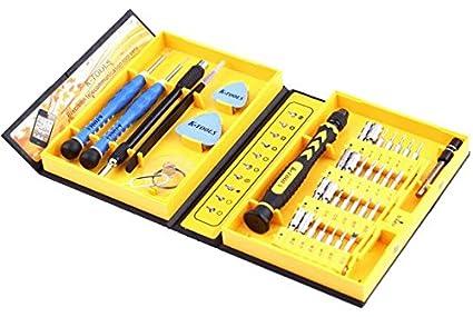 CursOnline® Juego N ° 38 Herramientas de Precisión para relojes/Móviles – 38pcs Herramientas