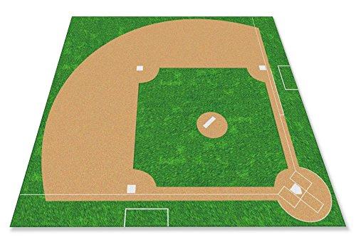 Kid Carpet Baseball Field Rug, 12' x 12' by Kid Carpet
