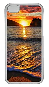 iPhone 5C Case and Cover - Sea sunset Hard Plastic Case for iPhone 5C - Transparent