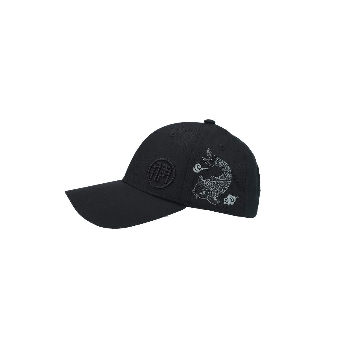 Zhongyue Spring and Autumn Chinese Style Baseball Cap Comfortable Breathable Men and Women Hat, White, Black Summer hat (Color : Black)