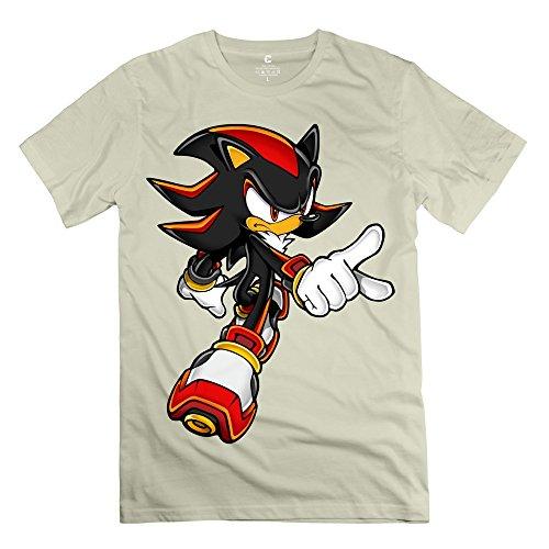 Enocho Men's Sonic Art Assets Shadow Hedgehog 5 T-shirt - XS Natural