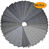 Anezus 90Pieces Sandpaper Assortment 400 to 3000 5000 7000 Grit Wet Dry Fine Sand Paper Assortment for Automotive Sanding Car Painting Wood Furniture Finishing