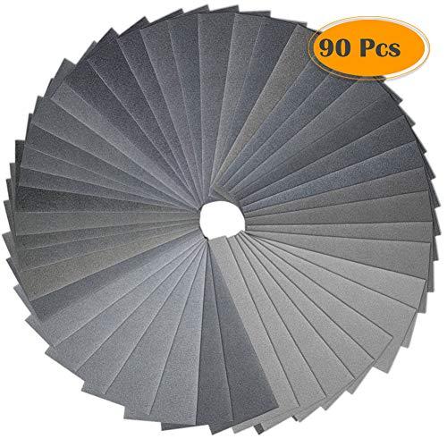Anezus 90Pieces Sandpaper Assortment