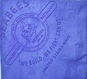"UNITED STATES NAVY SEABEES ""WE BUILD, WE FIGHT, CAN DO ! "" BLUE EMBLEM LASER ETCHED FLEECE BLANKET 60"" x 50"" NEW PRODUCT"