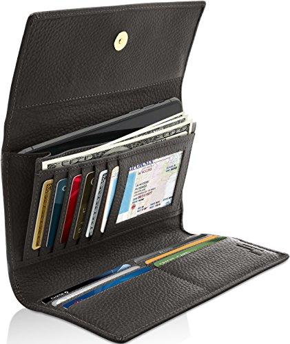 Ladies Black Checkbook Wallet - 2