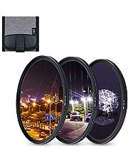 JJC 3 stuks 77mm sterfilter (4 punten, 6 punten, 8 punten) met beschermende filterzak voor Canon Nikon Pentax Olympus Samsung Sony Panasonic Fujifilm DSLR cameralens Filters