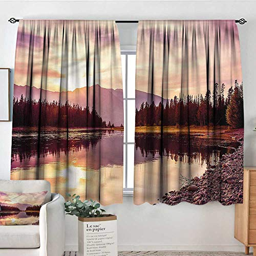 Landscape,Customized Chid Curtains Jackson Lake in USA 42