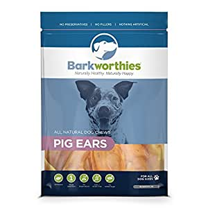 Amazon.com : Barkworthies 10-Pack Pig Ears Chew for Pets