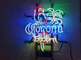 LDGJ Neon Signs for Wall Decor Handmade Sign Home FS Neon Sign Corona Extra Parrot Bird Custom Beer Bar Pub Recreation Room Lights Windows Glass Party