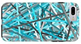 iPhone 8 Plus Case ''Link - Turquoise And Gray Abstract'' by Pixels