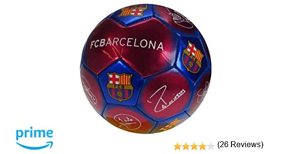 Balón de fútbol oficial firmado con el escudo del FC Barcelona (tamaño 5), international-soccer-leagues, color Signature, tamaño 5