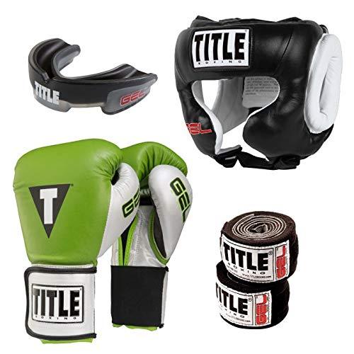 Title ボクシングジェルセット 緑/銀/黒 14 oz