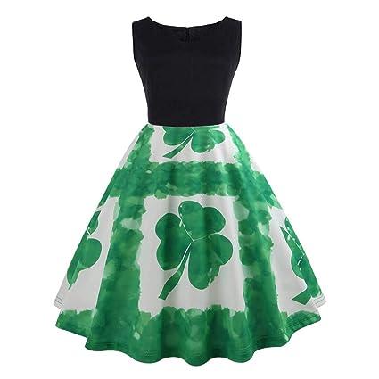 Amazoncom St Patricks Day Dress Haluoo Womens Sleeveless Green