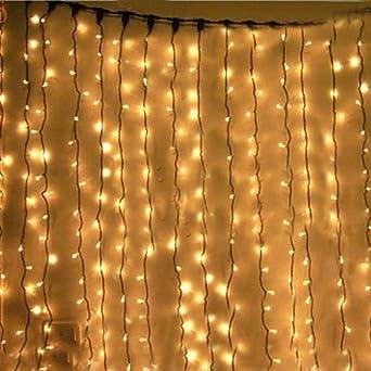 KK-LIGHT KKgud 3M x 3M 300 LED Indoor Outdoor LED Curtain Light ...