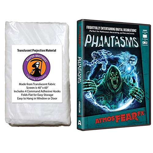 AtmosFearFX Phantasms Halloween DVD and Reaper Brothers High Resolution Window Projection Screen by Maxx Flex