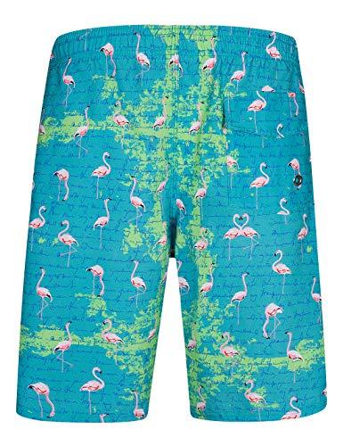 Mens Swim Trunks with Pockets Beach Swimwear Quick Dry Long Elastic Waistband Board Shorts Bathing Suits Holiday(SA04)-S Drak Green