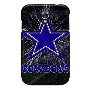 Rugged Skin Case Cover For Galaxy S4- Eco-friendly Packaging(dallas Cowboys)