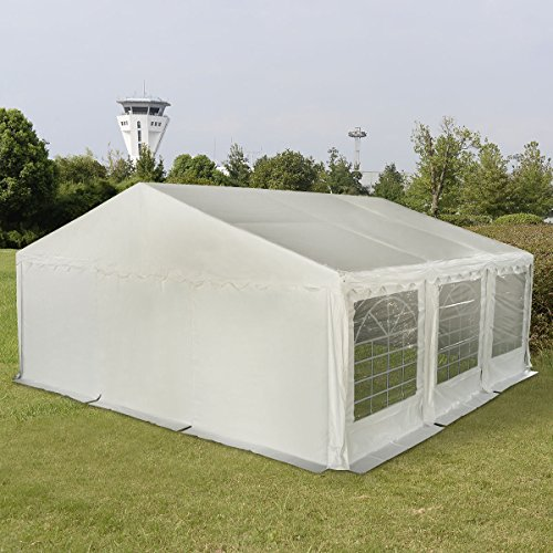New MTN-G 20'X20' PVC Tent Shelter Heavy Duty Outdoor Party Wedding Canopy Carport White by MTN Gearsmith