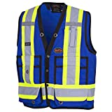 Pioneer V1010180, Hi-Viz Surveyor's Safety Vest, Royal