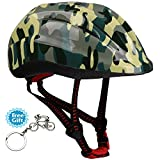 Children Bicycle Helmet Breathable 10 Hole Design with Shock Absorption Structure Safeguard for Cycling, Scooter, Skating, Roller Skating Protective Gear Accessories 48-53cm(Aged 5-12)