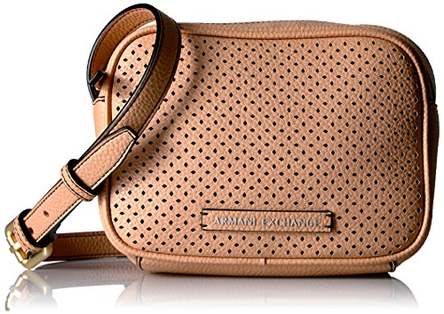 A|X Armani Exchange Perforated Pebble Pu Crossbody Bag, - Bag Women Armani