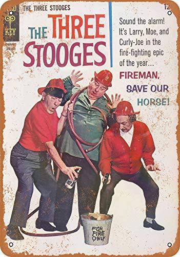 (Wall-Color 9 x 12 METAL SIGN - 1960 Three Stooges Comic - Vintage Look)