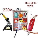 1.9KW 220V SUNKKO LED Pulse Battery Spot Welder 709A with Soldering Iron Station Spot Welding Machine 18650 16430 14500 battery