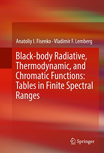 Black-body Radiative, Thermodynamic, and Chromatic Functions: Tables in Finite Spectral (Chromatic Body)