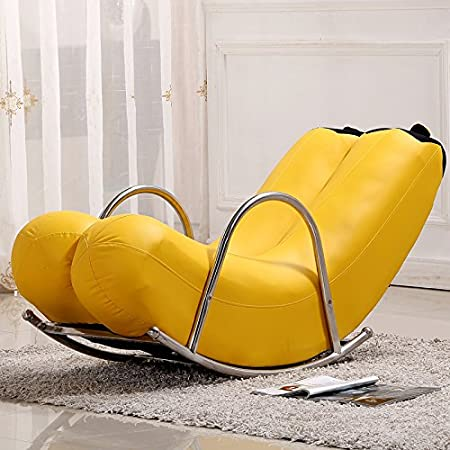 Dngy*Creative Single Independent Sofa Chairs Banana Rocking Chairs Yoyos  Seat Personality Lovely Modern European