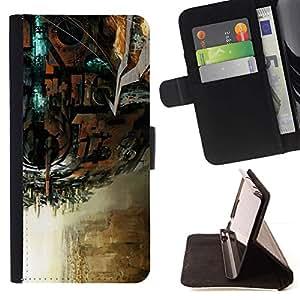 For Samsung Galaxy S4 IV I9500 Case , Violín Violonchelo Arte Instrumento Juego Clásico- la tarjeta de Crédito Slots PU Funda de cuero Monedero caso cubierta de piel